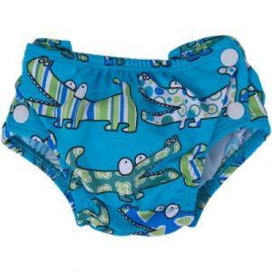 Pannolino da acqua croco blu (S)