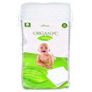 Quadrati di Cotone Bio Baby (60 pz)