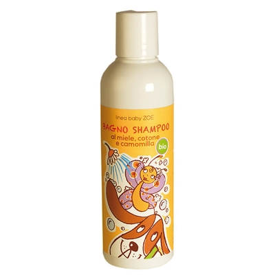 Bagno shampoo alla camomilla, miele e cotone (200ml)