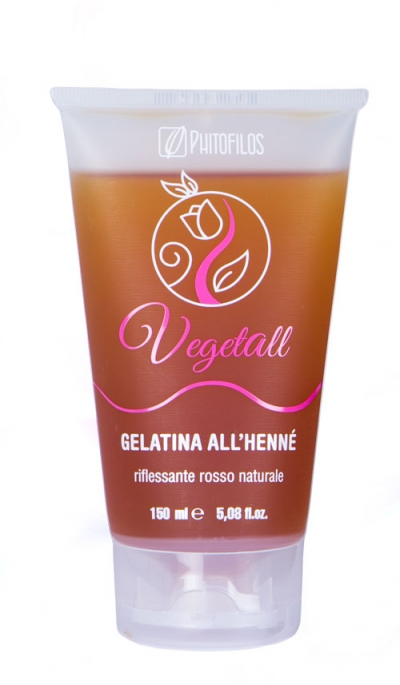VegetAll Gelatina all'henné riflesso rosso (150ml)