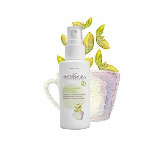 Spray volumizzante per capelli sottili con the verde (100ml)