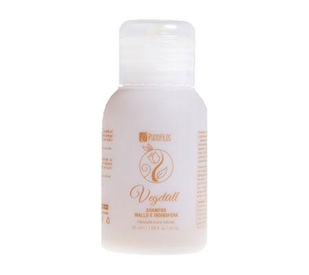 VegetAll Shampoo mallo e indigofera riflesso castano (50ml)