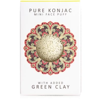 Mini spugna di Konjac con argilla verde francesce - per pelli miste