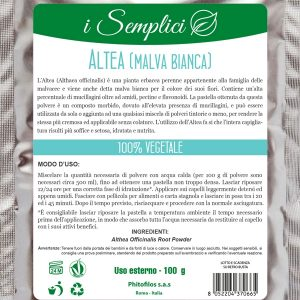 Altea (malva bianca) Tonico Emolliente (100g)