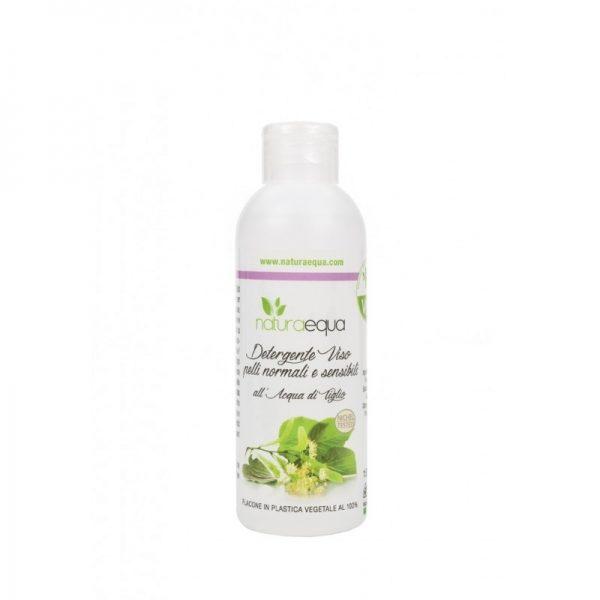 Gel Detergente per Pelli Sensibili e Normali con Acqua di Tiglio (150ml)