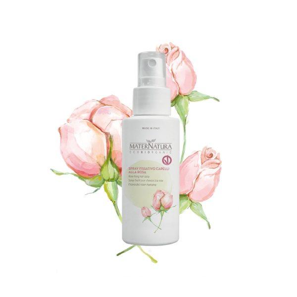 Spray fissativo capelli alla Rosa (100ml)