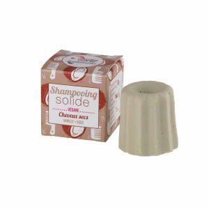 Shampoo solido per capeli secchi alla vaniglia e cocco (senza oli essenziali)