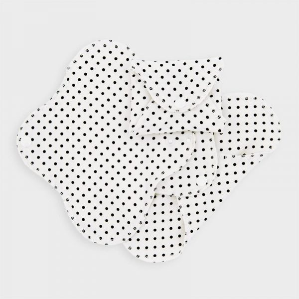 Salvaslip lavabili SLIM Black Dots (3 pz)