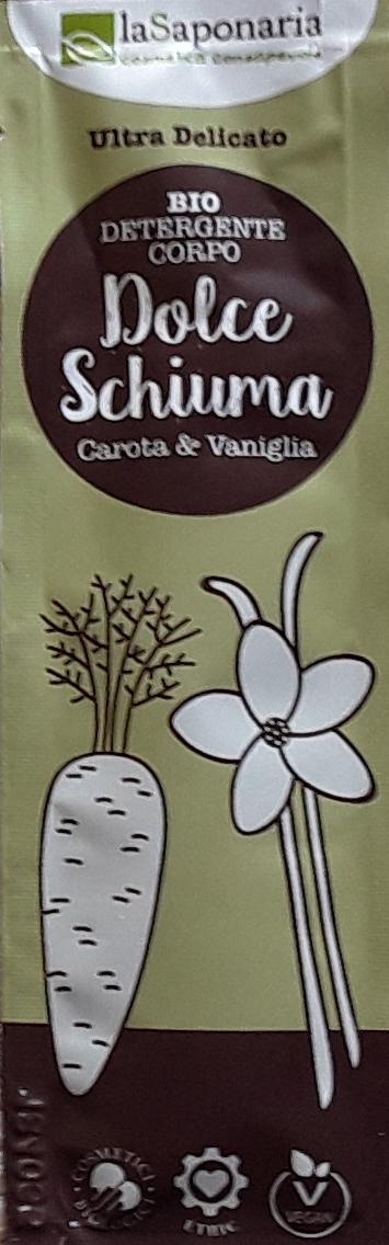Campioncino omaggio detergente corpo Vaniglia e Carota - Dolce Schiuma