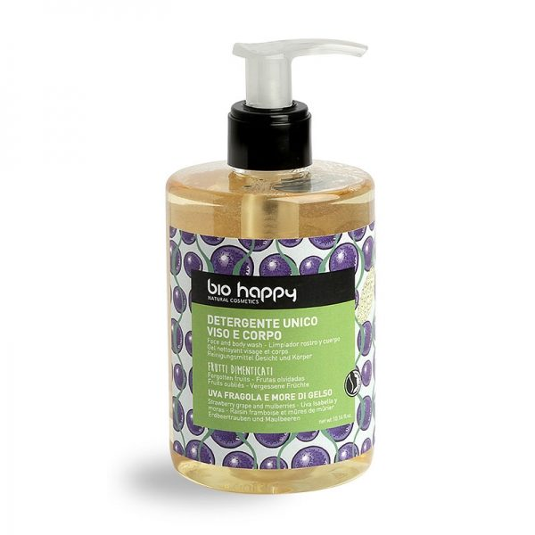 Detergente unico viso e corpo Uva fragola e more di gelso (300ml)