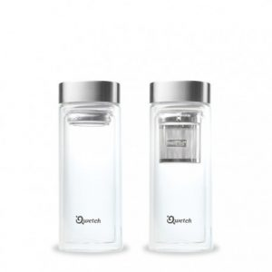 Teiera in vetro doppio e acciaio satinato (320ml)