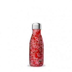 Borraccia termica in acciaio fiori rossi (260ml)