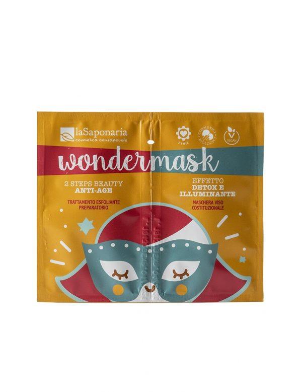 Wondermask maschera viso 2 step beauty anti age