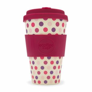 Pink polka - ecotazza in bambù da 400 ml
