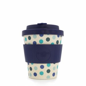 Blue Polka - Ecotazza in bambù da 250 ml