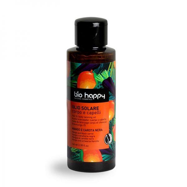 Olio solare corpo e capelli mango e carota nera