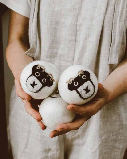 per asciugatrice di lana riutilizzabili ipoallergeniche 100/% lana per uso in asciugatrice Sweetone 6 palline per asciugatrice di lana con olio e profumo